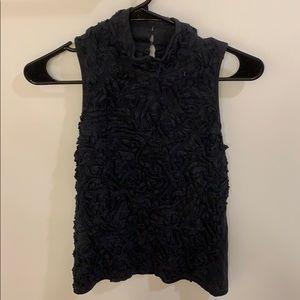 Zara Navy Ruched top